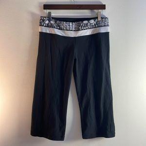 Reversable Black Lululemon Capris Size 10
